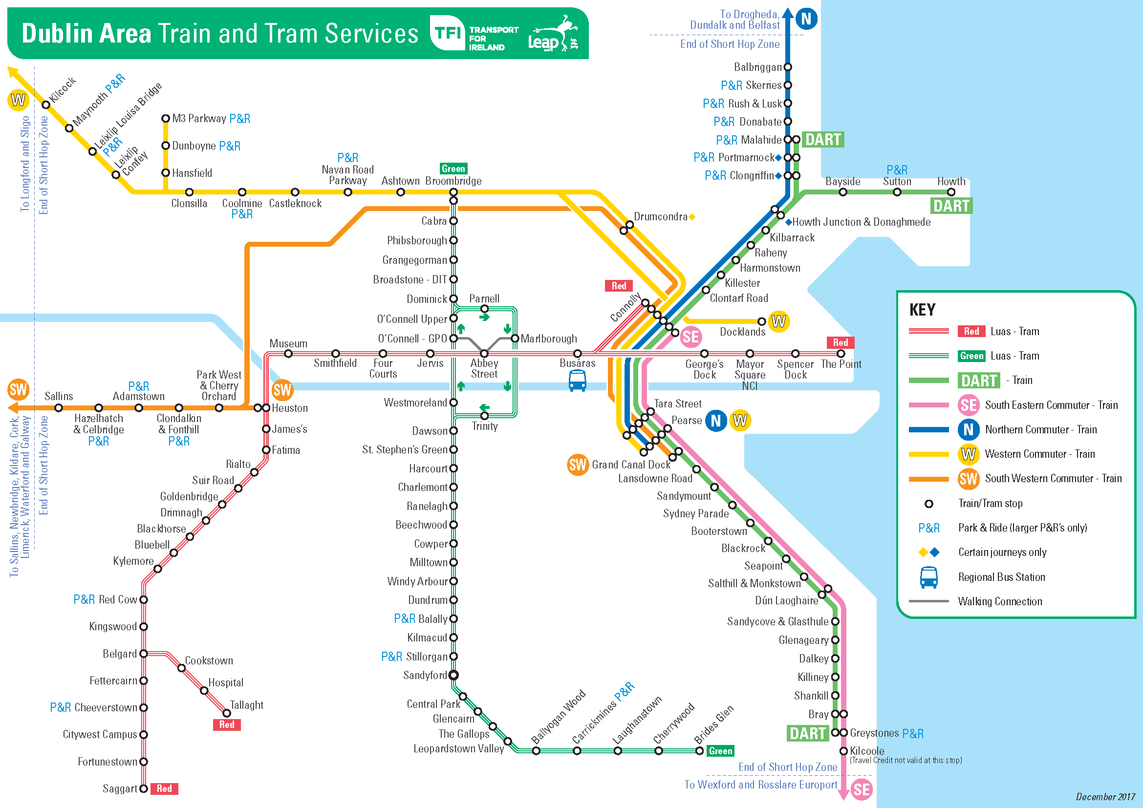 Transport For Ireland - Maps Of Public Transport Services -