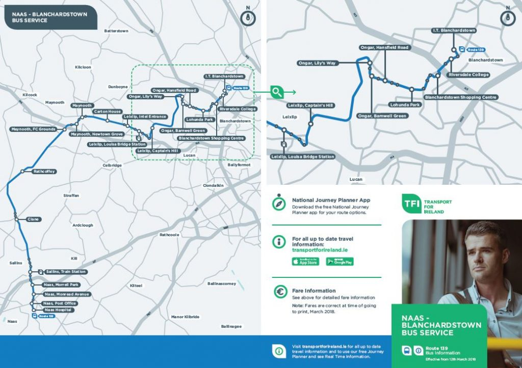 Naas to Blanchardstown Route Map