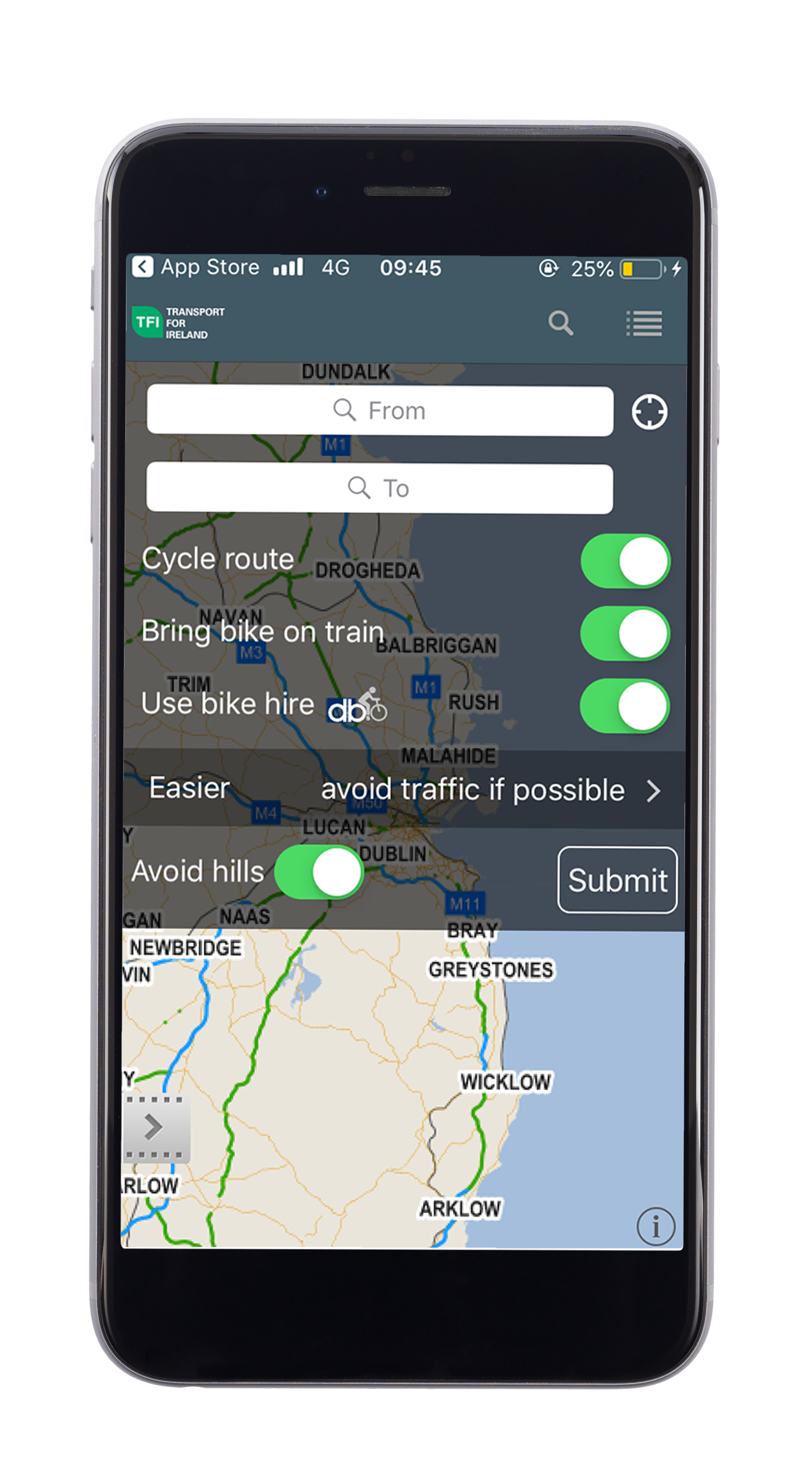 Transport For Ireland - Available Apps -