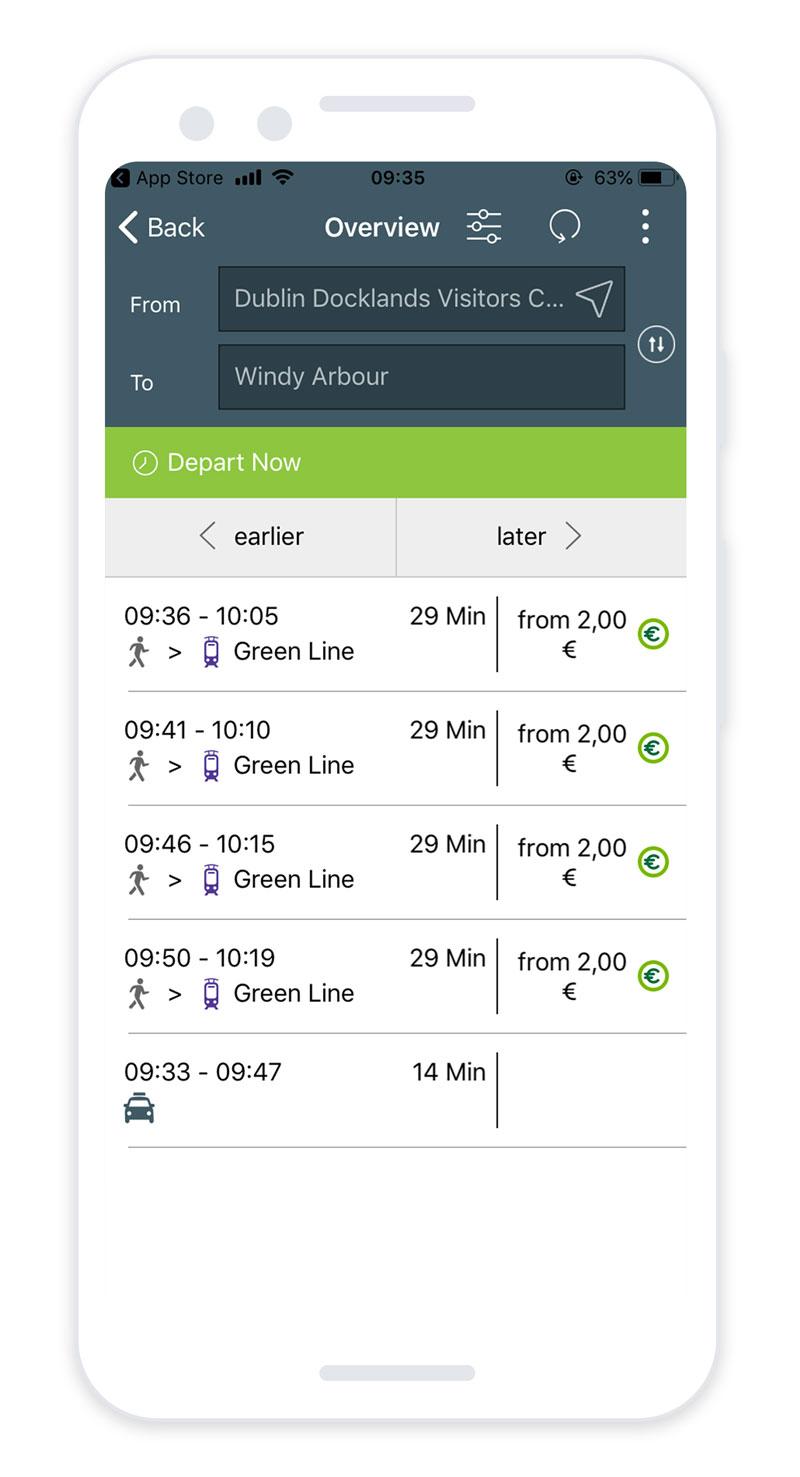 TFI Journey Planner App