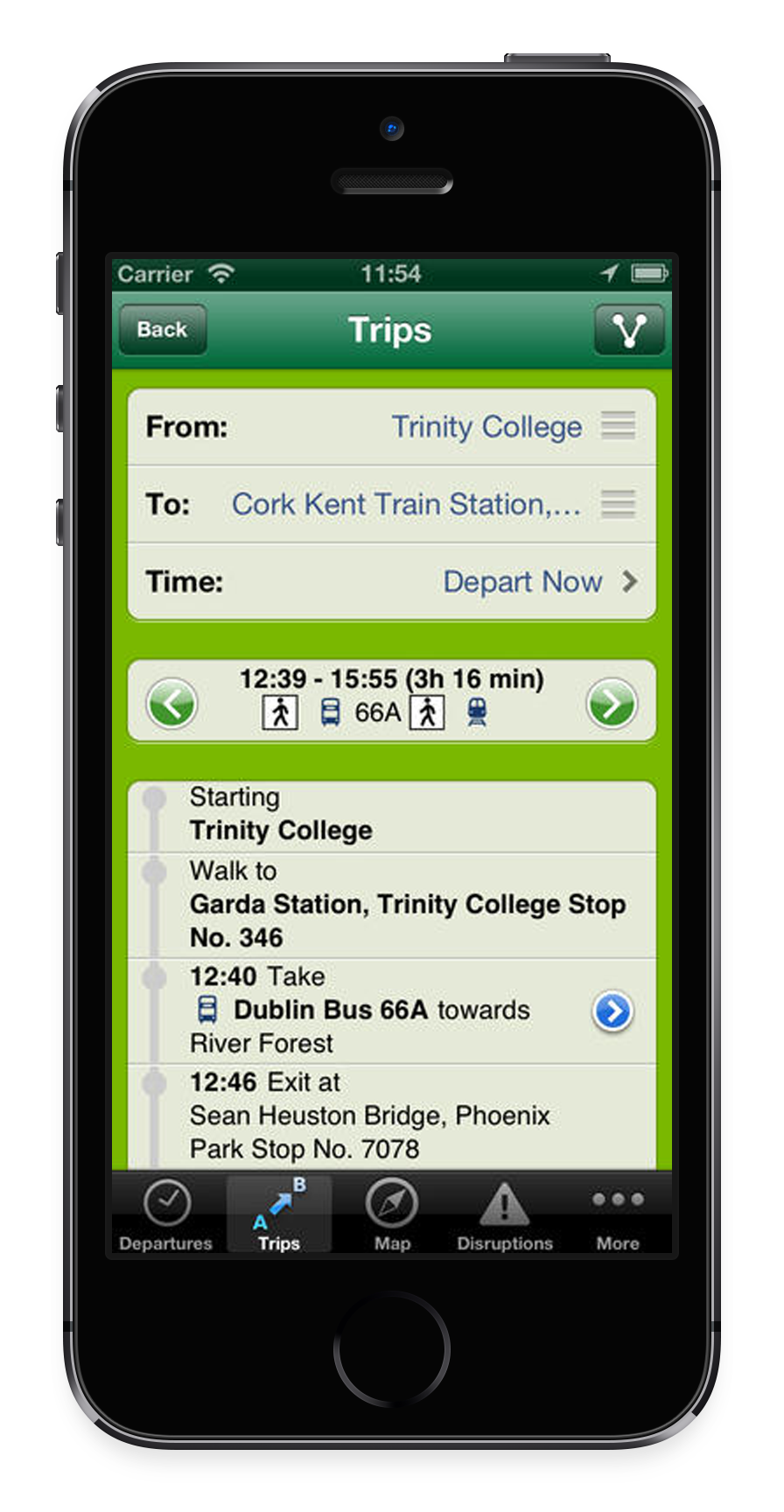 transport for ireland available apps