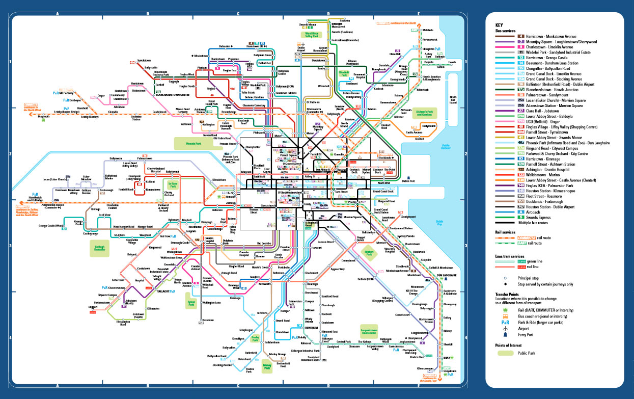 Maps Of Public Transport Services – Tourist Map Dublin
